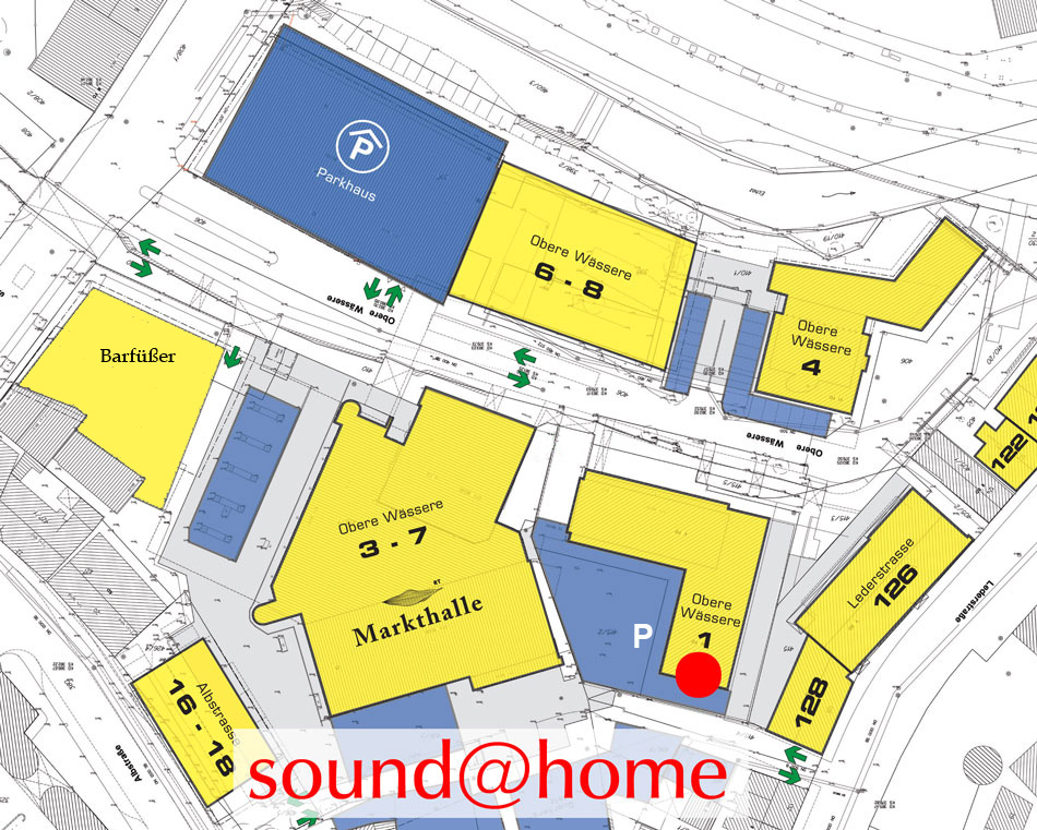 Lageplan: sound@home, Obere Wässere 1