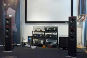 Vorführraum mit Wilson Benesch ACT Evolution, NuVista600, Audiomat Opera, REL G1, AVM, Moon