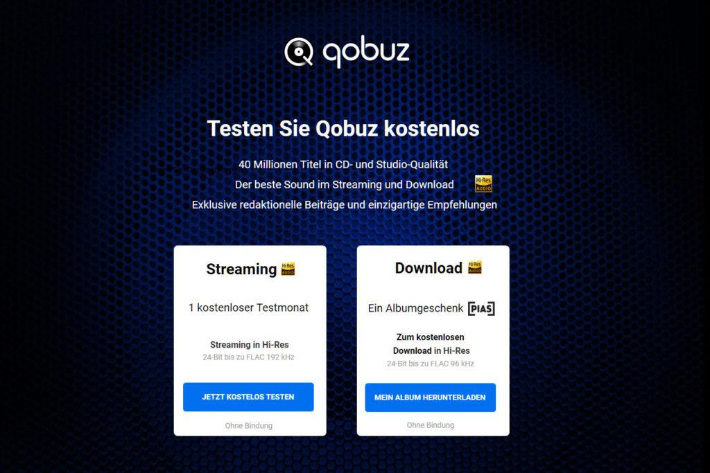 qobuz 1 Monat kostenlos + 1 HiRes Album geschenkt